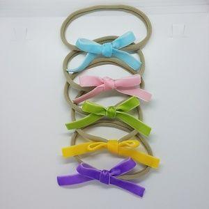 New handmade Velvet Bow nylon headbands